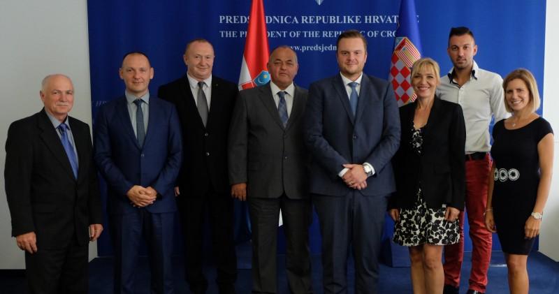 Prijem delegacije UPU PGŽ u Uredu Predsjednice Republike Hrvatske